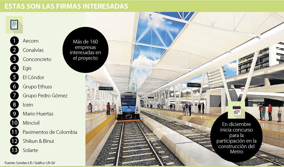M s de 160 empresas interesadas en el metro de bogot for Empresas de jardineria bogota