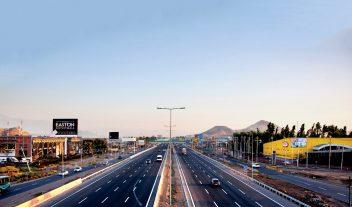 La Autopista Santiago-Lampa en Chile, uniendo vías