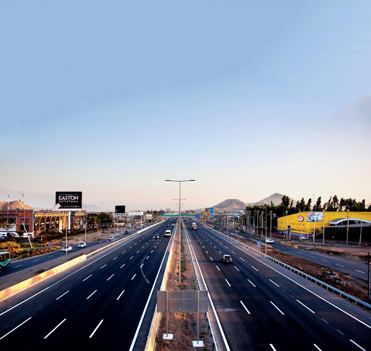 La autopista santiago lampa en chile uniendo v as for Marmolerias en santiago de chile