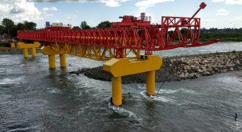 Chile inicia etapa final de puente ferroviario sobre río Toltén