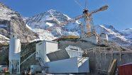 Una planta de concreto en las alturas alpinas