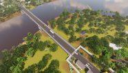 Puente binacional Sixoala tiene un 56% de avance