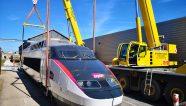 Una grúa Demag para un tren ultra rápido