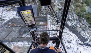 Un trabajo de altura en Suiza